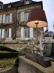 Whitre tree lamp at Manoir du Hilguy