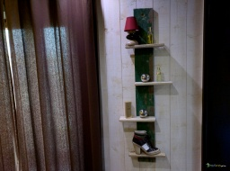 Wooden vertical green rack / Apercu n 8