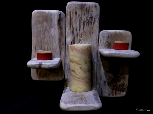 https://www.bogaleco.com /  Triple candle holder