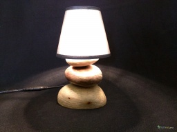 Small pebbles wooden lamp / Apercu n 5