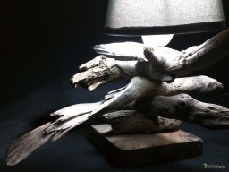 Small lamp driftwood cross / Apercu n 5